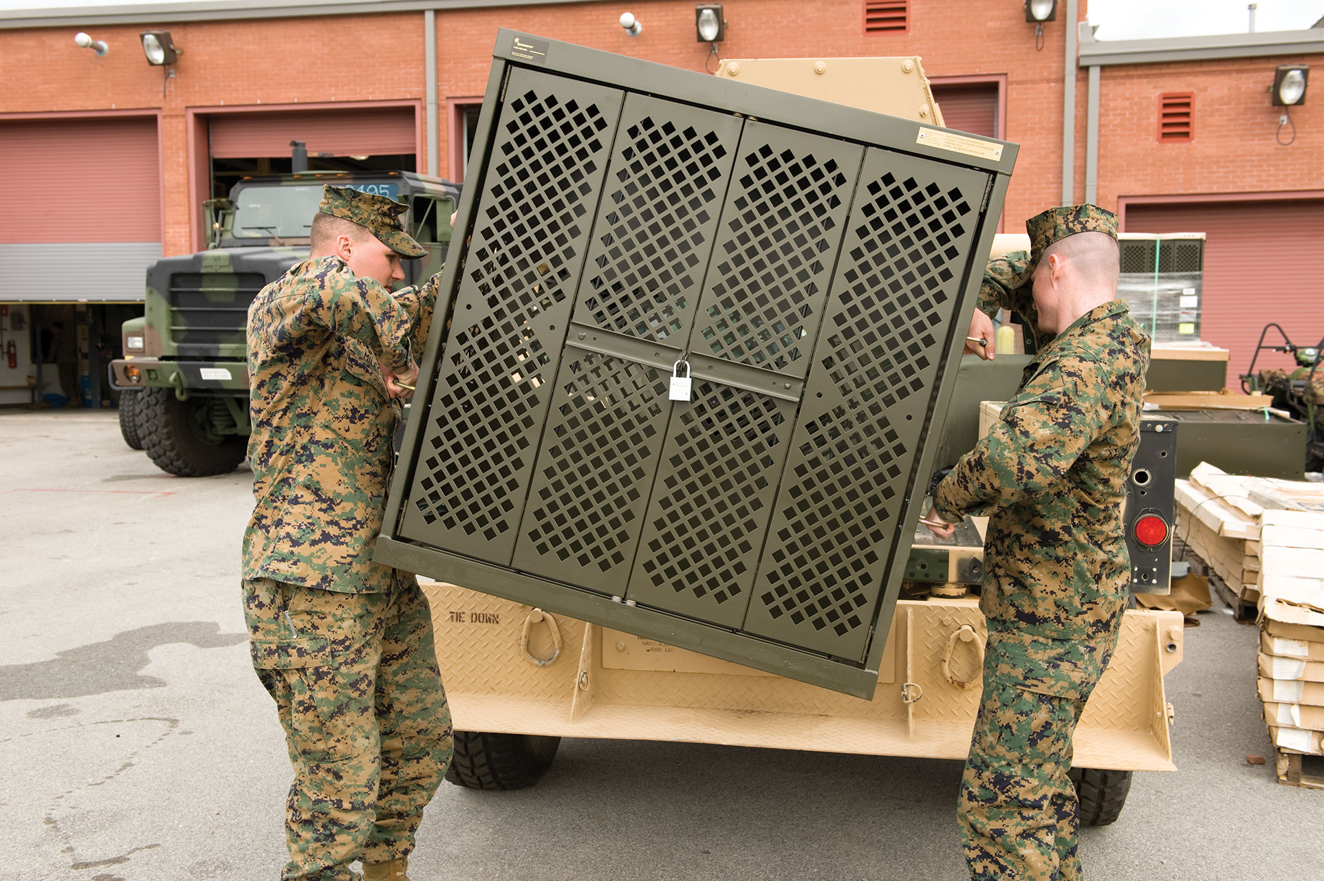 Weapon Racks easily transported from Garrison to Field