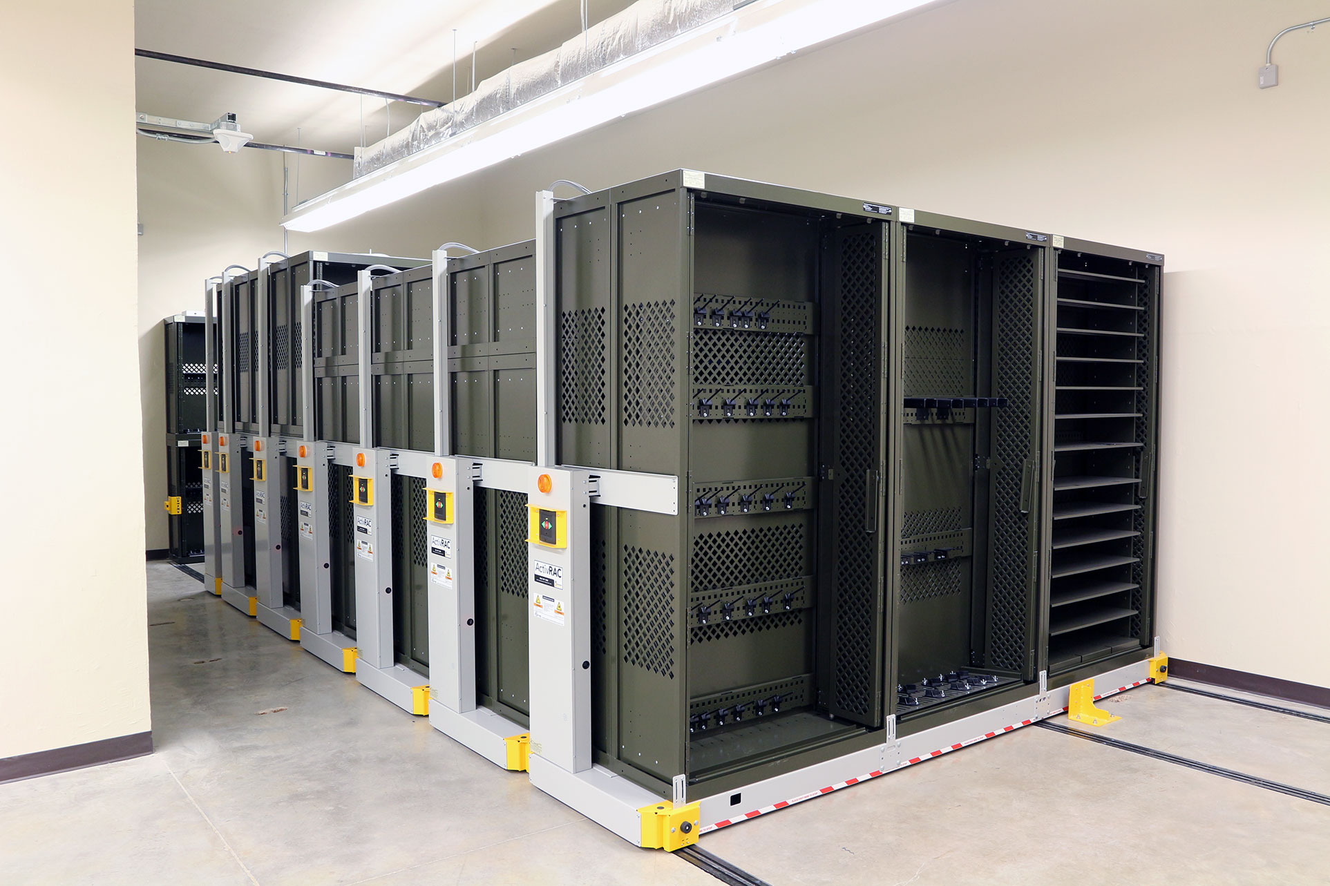Weapon Rack 84 on mobile storage system
