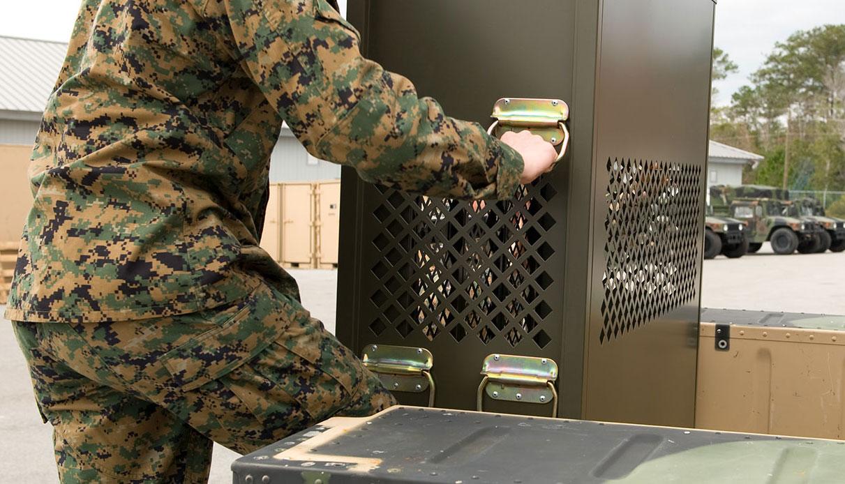 Weapon rack transport